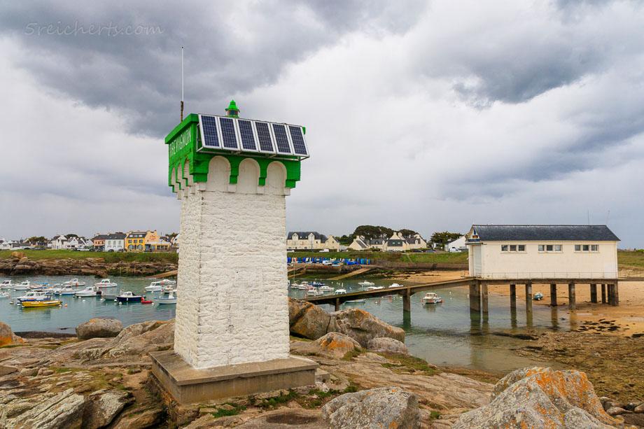 Die neue Solaranlage des Leuchtturms Trevignon, Bretagne