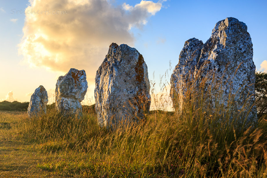 Menhire in Camaret, Bretagne