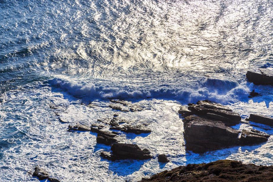 Blick hinuter zum Meer, Cap de la Chevre, Bretagne