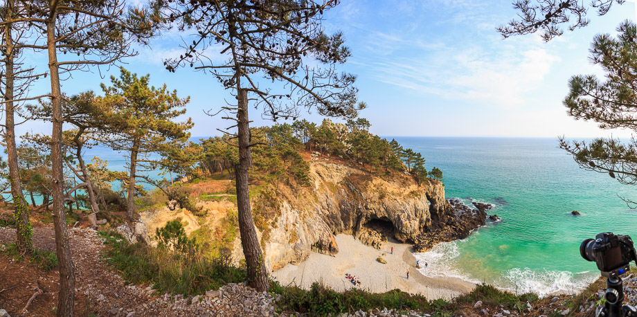 Blick über den Strand, Ile Vierge, Bretagne