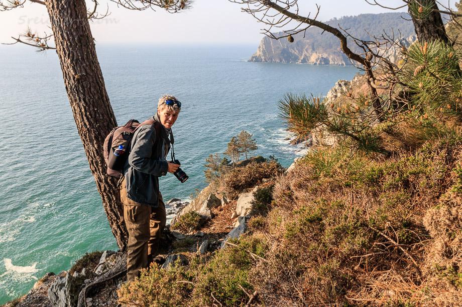 Gabi an der Küste, Cap de la Chevre, Bretagne