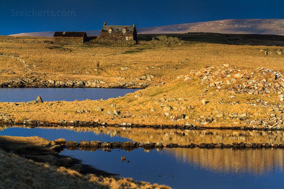 Landschaft in Eshaness, Shetland, Schottland