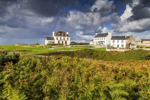 Häuser auf Ouessant, Bretagne