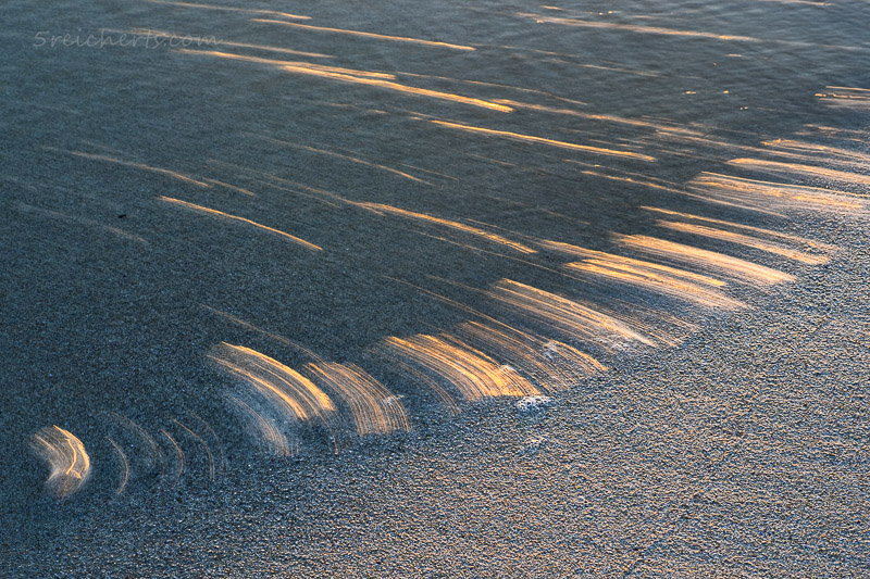 golden wavelines on beach