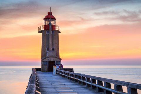 Hafenleuchtturm Fecamp, Normandie, Frankreich