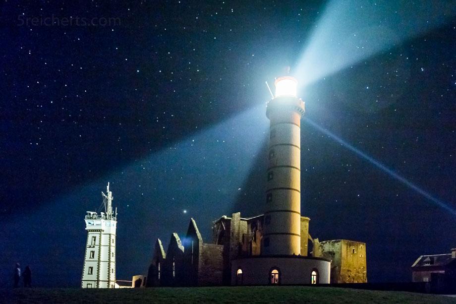Saint Mathieu in der Nacht, Bretagne