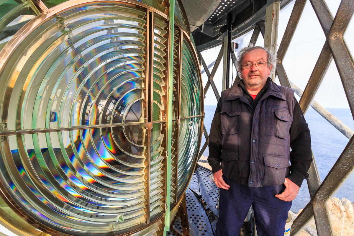 Der Leuchtturmwärter des Creac'h Leuchtturms, Ouessant, Bretagn