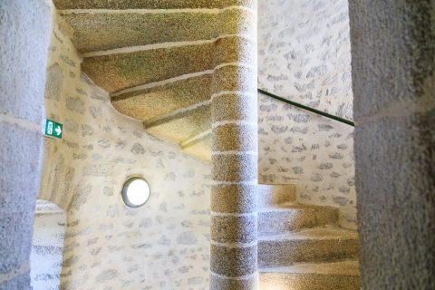 Treppenhaus des Leuchtturm Stiff, Ouessant, Bretagne