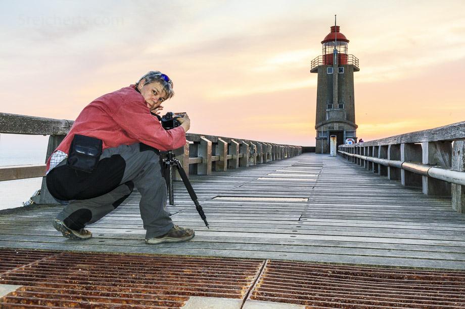 Gabi fotografiert in Fecamp, Normandie