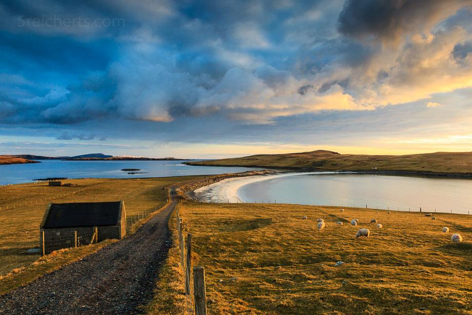 Bannaminn Beach, Insel Burra, Shetland
