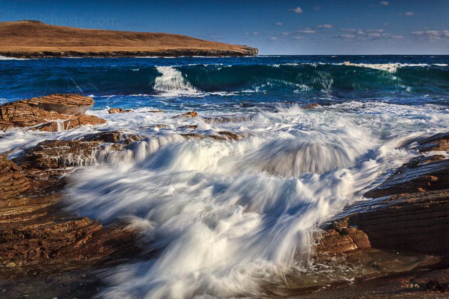 Wellen vor Noss Island, Bressay, Shetland