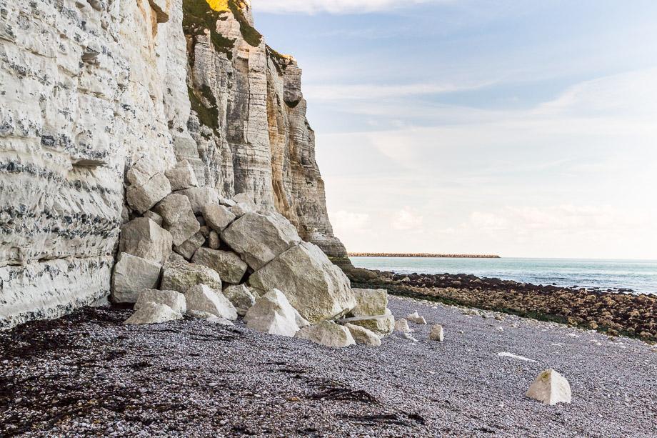 Vorsicht! Steilküste Anifer, Normandie