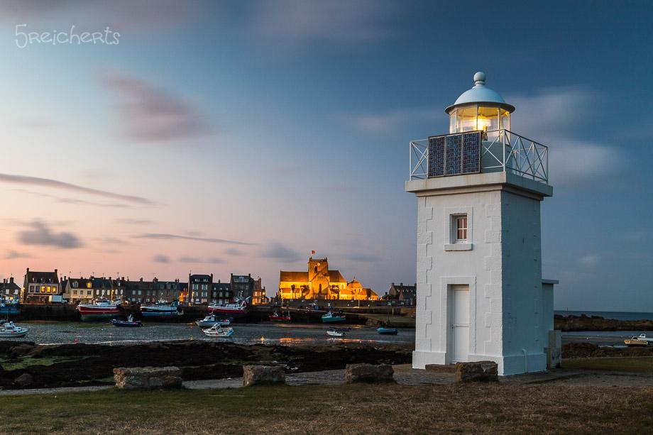 Der Hafenleuchtturm am Abend, Barfleur