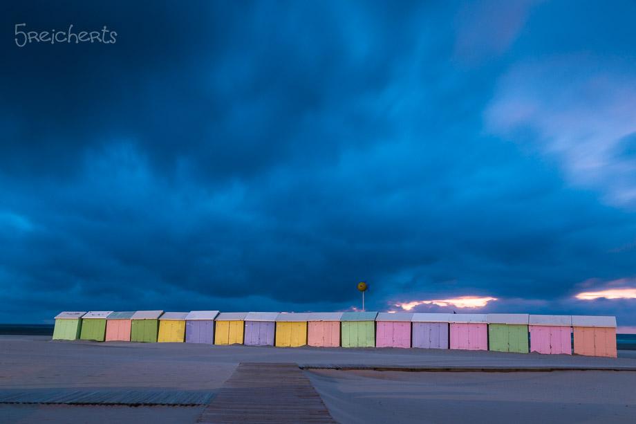 Strandhäuschen in Berck, Nordfrankreich