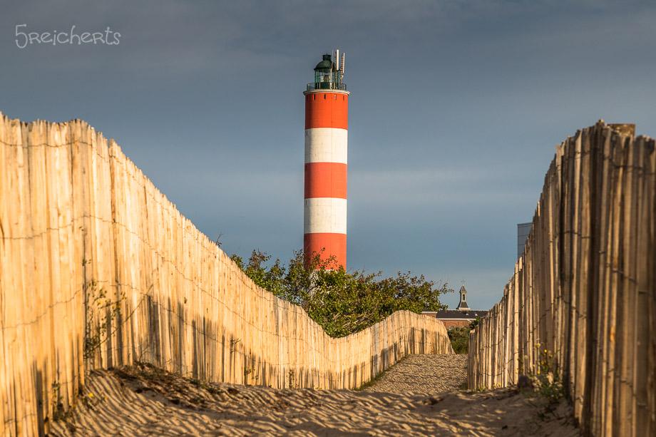Leuchtturm Berck am Morgen, Nordfrankreich