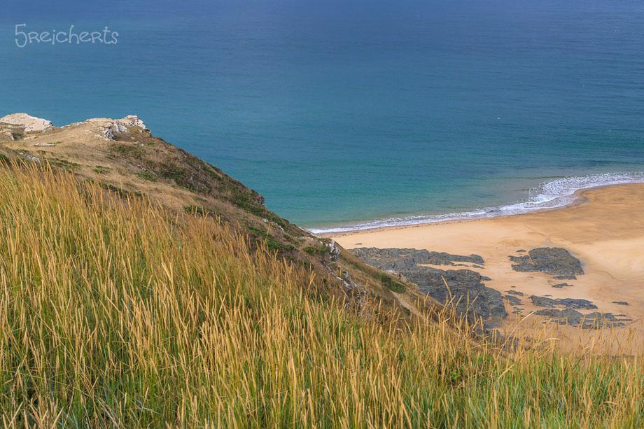 Gras, Sand und Meer, Carteret, Normandie