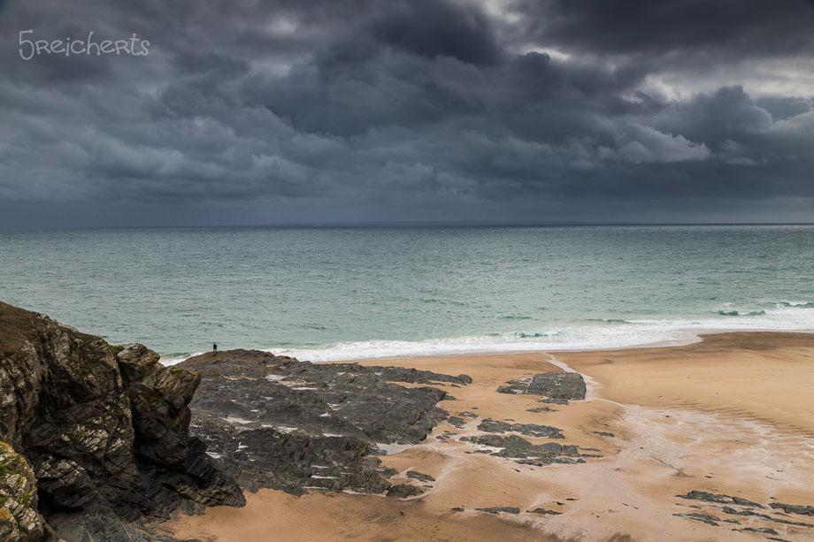 Blick auf den Strand, Carteret, Normandie