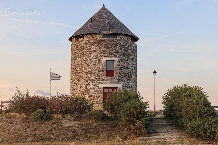 Mühle in Hirel, Bretagne