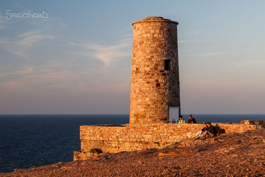 Historische Leuchtturm am Cap Fréhel, Bretagne