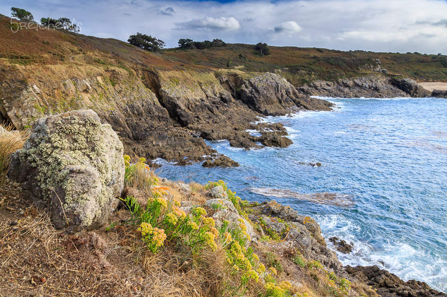 Felsenküste am Pointe du Grou<in