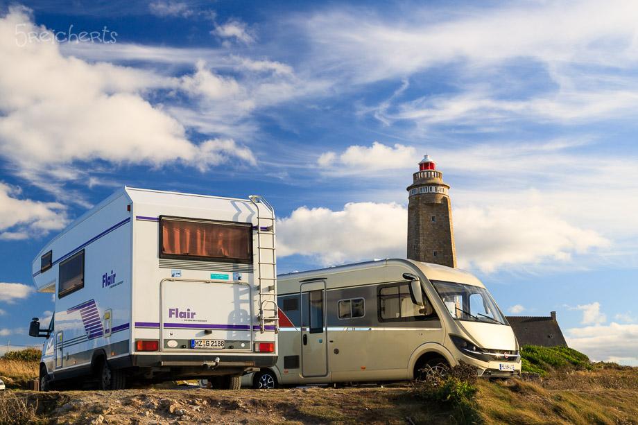 Unser Wohnmobil am Cap Levi, Normandie
