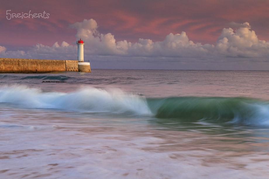 Kurze Langzeitbelichtung im Abendlicht, Audierne, Bretagne