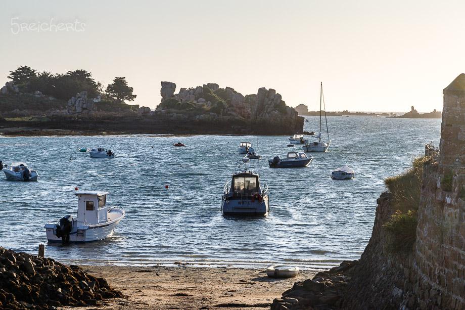 Boote vor der Ile de Brehat