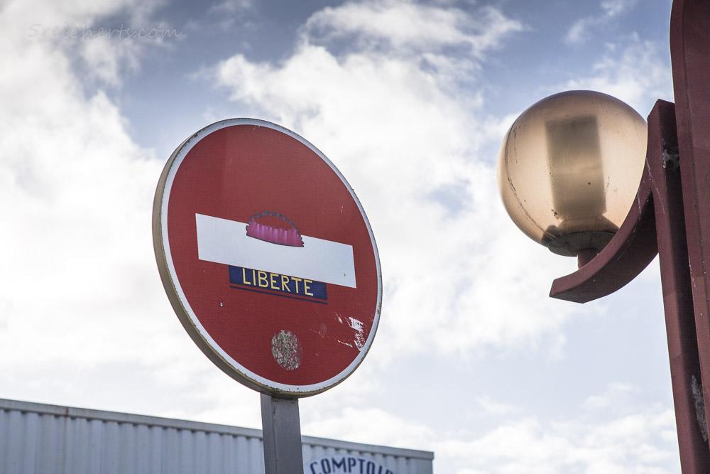 Clet Abraham Verkehrsschild: Liberte