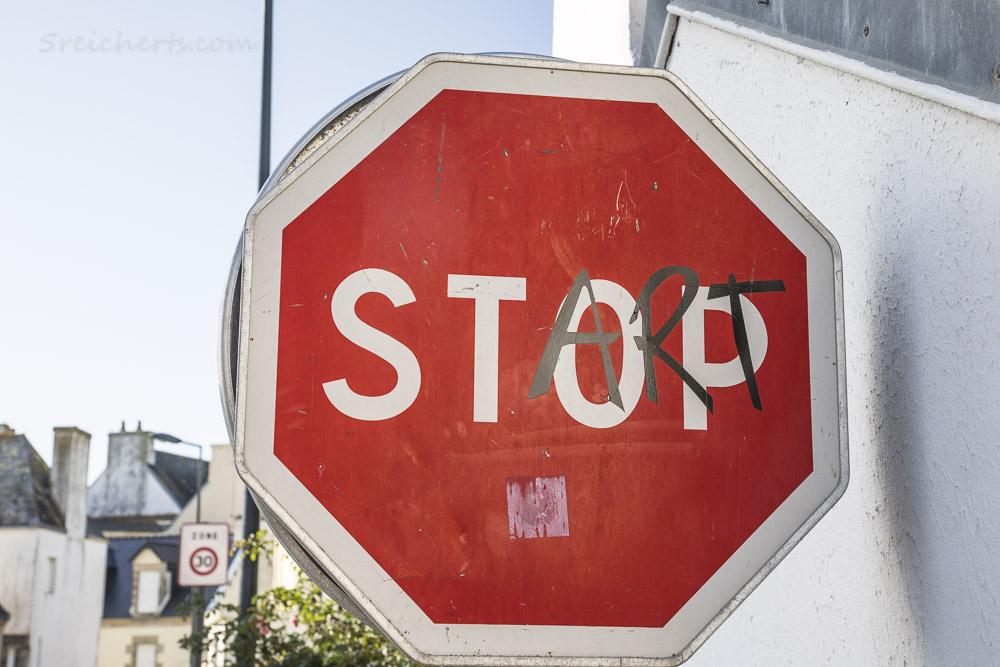 Clet Abraham Verkehrsschild: STart