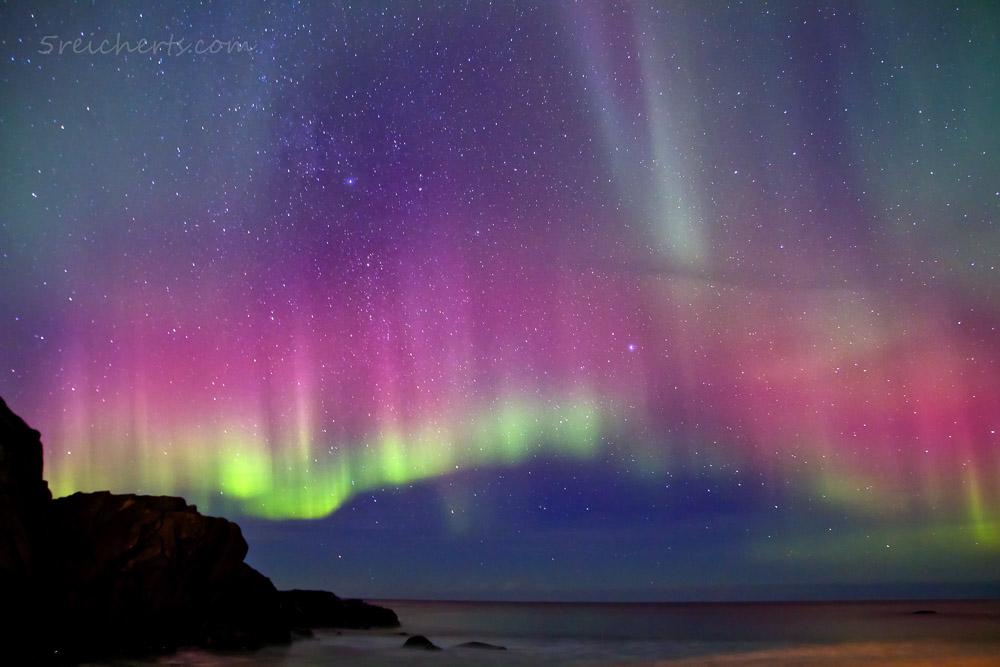 Rotes Nordlicht, Lofoten