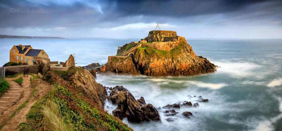 Das alte Fort Bertheaume auf der Felseninsel