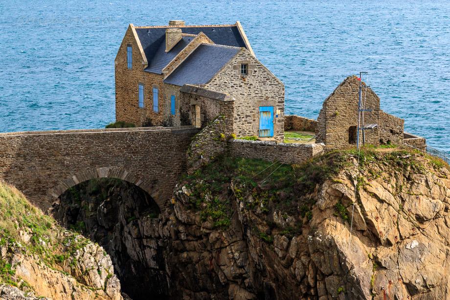 Haus vor der Festungsinsel, Bertheaume, Bretagne
