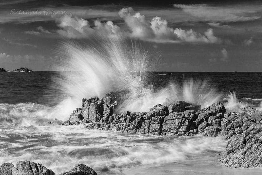 Spritzende Wellen, Pointe de Corsen