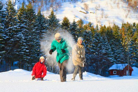 SchneeballSchlacht auf den Lofoten