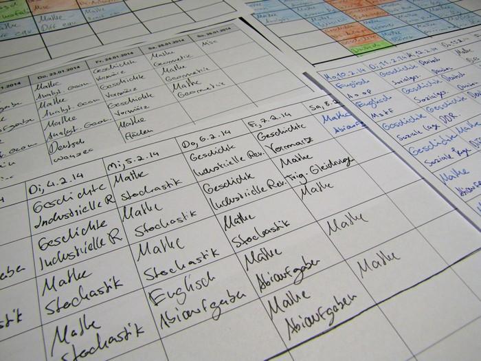 Stundenplan eines Freilerners