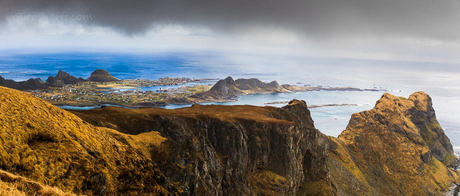 Blick über Vaeroy, Norwegen