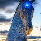 Kelpies, Falkirk, Schottland