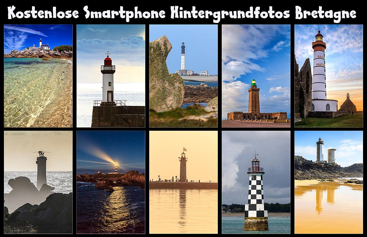 kostenlose Smartphone-Fotos Bretonische Leuchttürme
