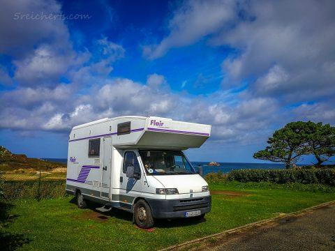 Womo am Pointe de Primel, Bretagne