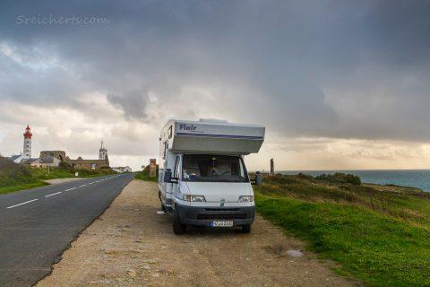 Womo am Pointe Saint-Mathieu, Bretagne