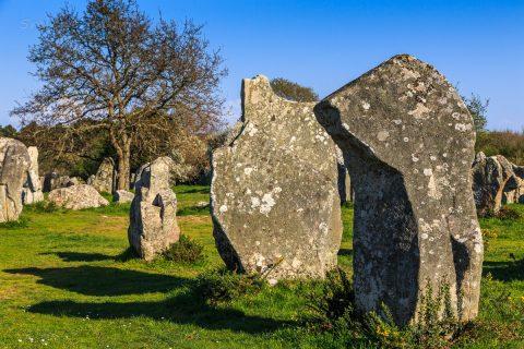 Menhire in Erdeven, Bretagne
