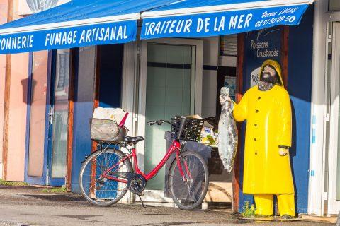 Fischladen in Quiberon, Bretagne