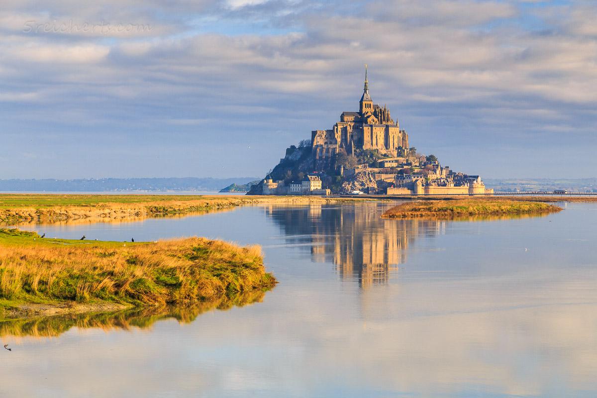 Mont Saint Michel im Morgenlicht