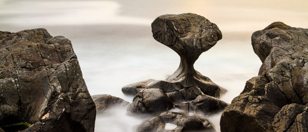 Kannenstein auf der Insel Vagsøy, Norwegen