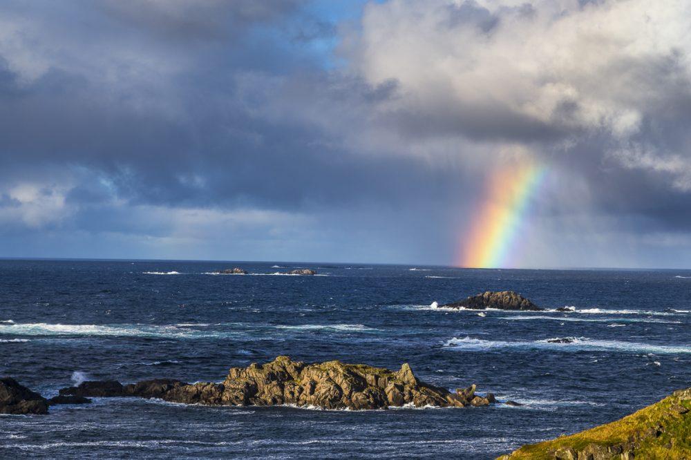Regenbogen, Litloy, Norwegen