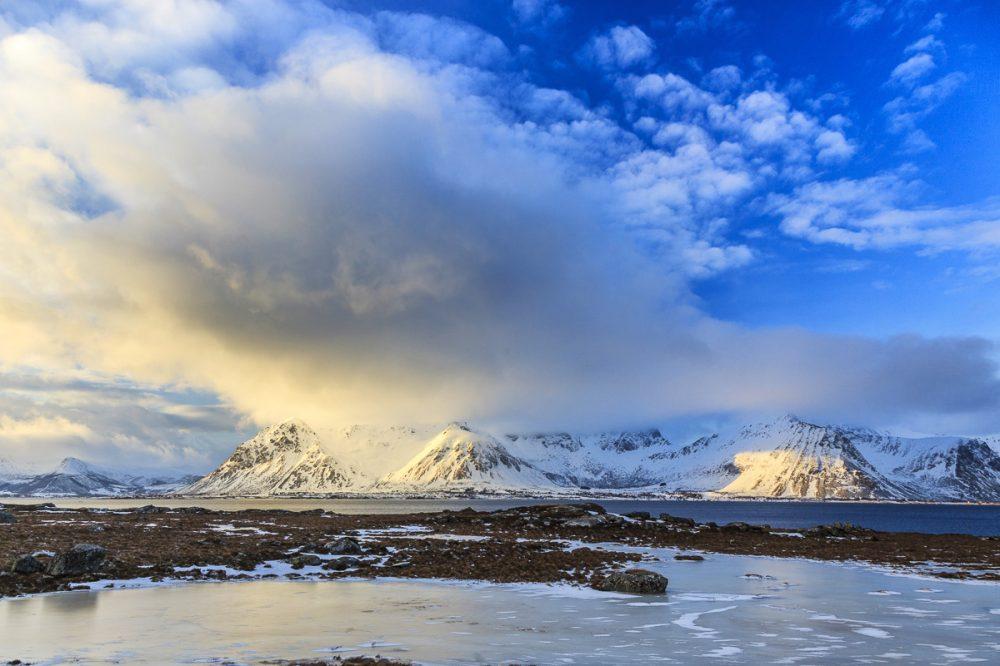 Berglandschaft, Lofoten, Norwegen