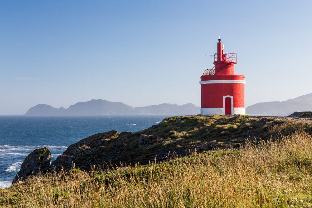 Faro de Punta Robaleira, Galicien, Spanien