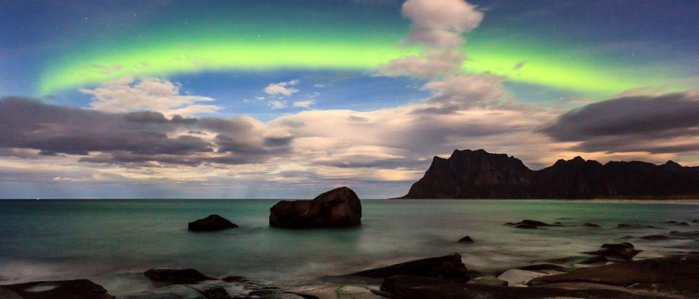 Nordlicht, Utakleiv, Lofoten