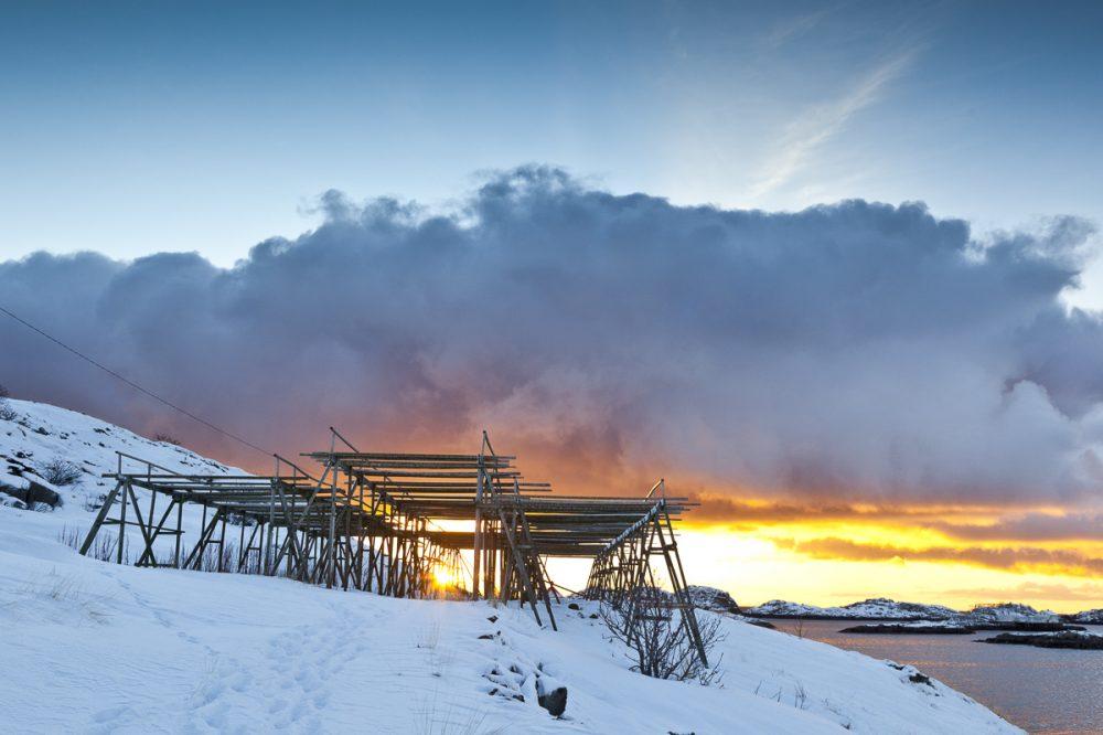 Nach dem Schneesturm,Henningsvaer, Lofoten