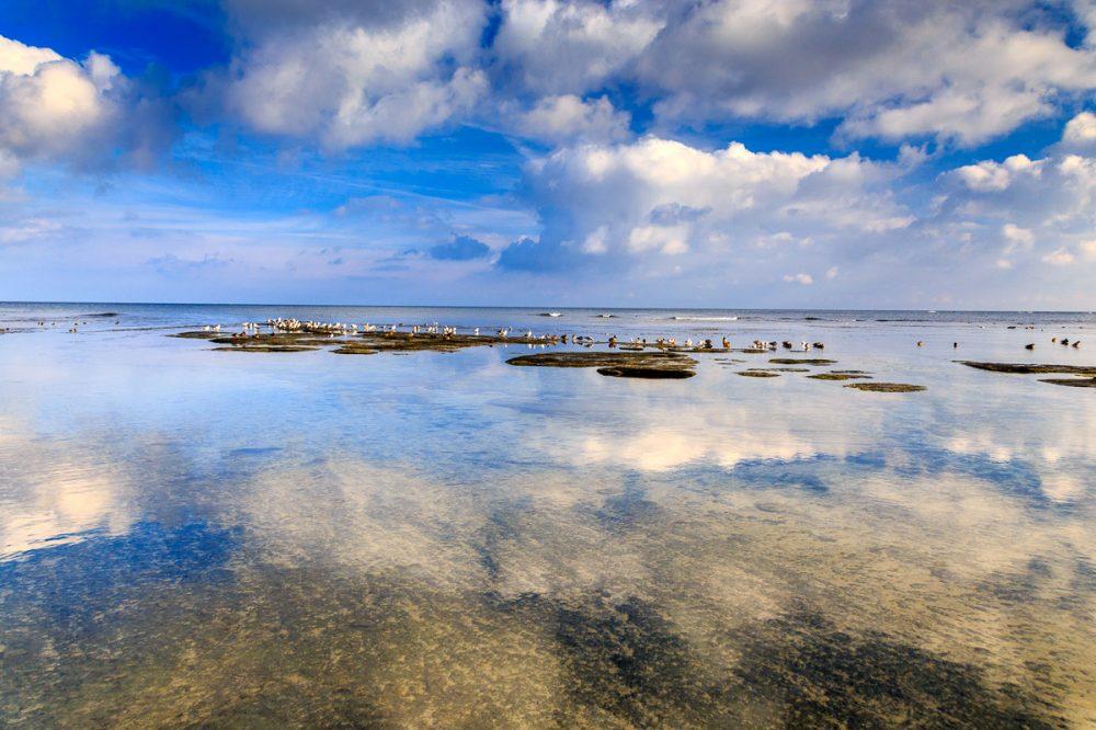 Strand mit Felsplatten, Snogebæk